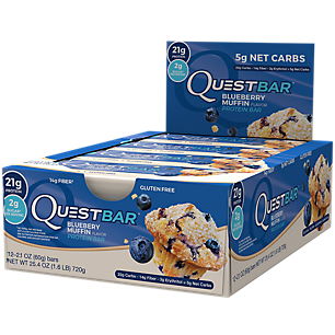 Quest Bar Blueberry Muffin 12 Bars 1 Box